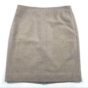 J. Crew Factory Double Serge Wool Pencil Skirt 10
